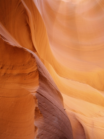 Abstract curves of Antelope Canyon photo