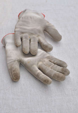 Dirty gardening gloves photo