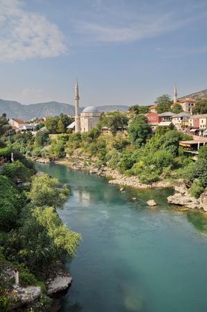 mostar: View of Mostar in Bosnia Hercegovina