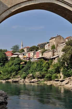 bosnia hercegovina: View of Mostar old town in Bosnia Hercegovina