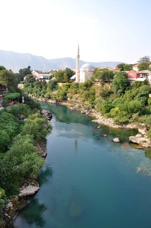 bosnia and hercegovina: View of Mostar in Bosnia Hercegovina