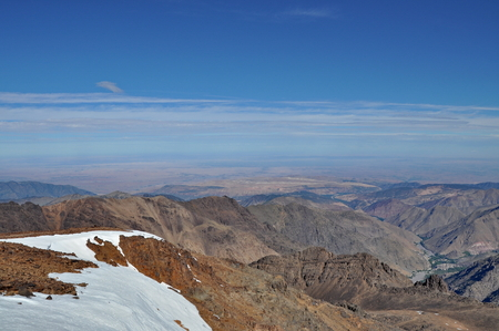 View from Mount Toubkal  4,167 metres , Atlas, Morocco