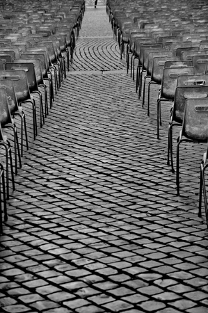 public sector: Empty grey chairs