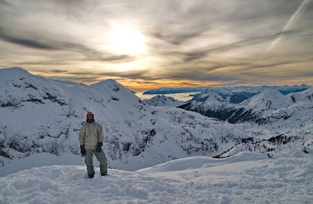 Young man in tha Austrian Alps photo