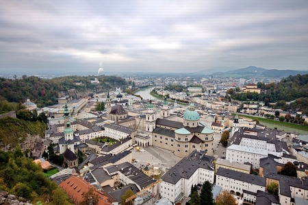 City of Salzburg from the fortress photo