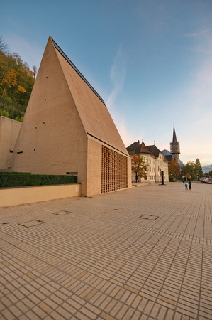 liechtenstein: Parliament of Liechtenstein in Vaduz Editorial