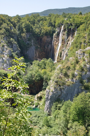 slap: The bigest waterfall (Veliki Slap) at Pltvice Lakes in Croatia Stock Photo