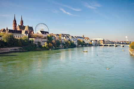 City of Basel in Switzerland 免版税图像 - 36743413