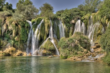 non urban scene: Kravice waterfalls in Bosnia Herzegovina