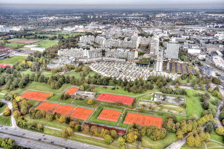 Munich Olympia park from the TV tower