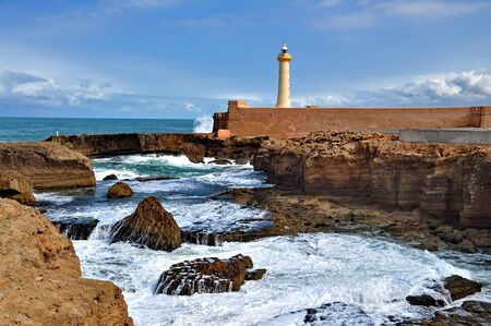 Lighthouse of Rabat, Morocco 免版税图像 - 37606312