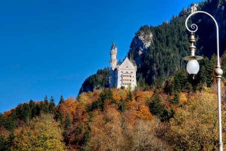 neuschwanstein: Castle of Neuschwanstein near Munich in Germany