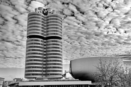 summer olympics: MUNICH - GERMANYOCTOBER 31: BMW building museum on June 31, 2014, Munich, Germany. The BMW Museum is located near the Olympiapark in Munich and was established in 1972 shortly before the Summer Olympics Editorial