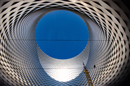 messe: BASEL SWITZERLAND NOVEMBER 01 2014: Exhibition Center in the Old Town of Basel in Switzerland
