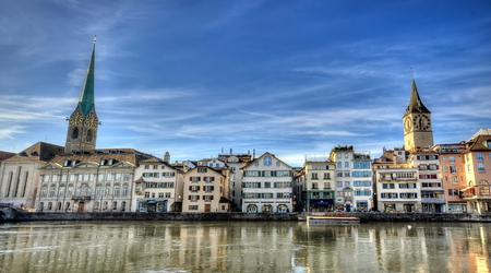 Center of Zurich, Switzerland Stock Photo