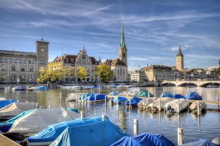 zurich: Center of Zurich, Switzerland Stock Photo
