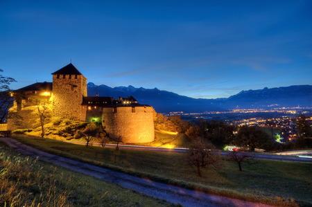liechtenstein: Castle of Vaduz in Liechtenstein at night