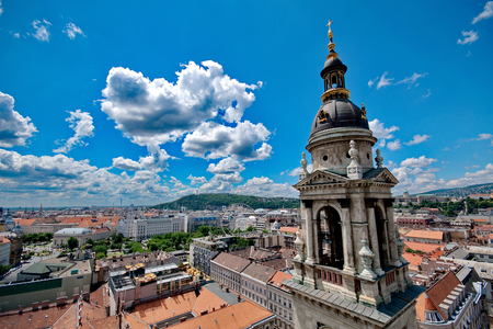 View from St. Stephan basilica, Budapest Hungary Stock fotó