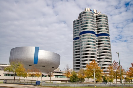 olympics: MUNICH - GERMANYOCTOBER 31: BMW building museum on June 31, 2014, Munich, Germany. The BMW Museum is located near the Olympiapark in Munich and was established in 1972 shortly before the Summer Olympics Editorial