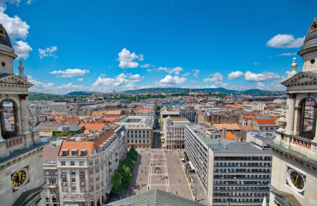 saint stephen cathedral: View from St. Stephan basilica, Budapest Hungary Stock Photo