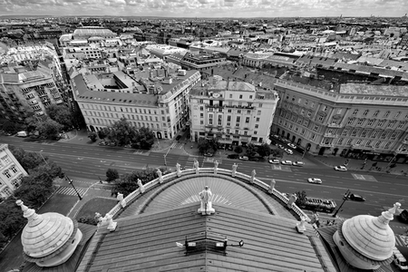 saint stephen cathedral: View from St. Stephan basilica, Budapest Hungary Editorial