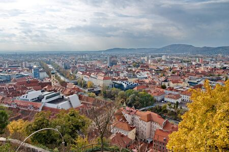 City of Graz in Austria from above