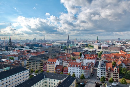 View of Copenhagen, Denmark from above 免版税图像 - 51354935