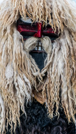 mohacs: MOHACS, HUNGARY - FEBRUARY 07: Unidentified people in mask at the Mohacsi Busojaras. It is an annual festival to welcome the spring . February 07, 2016 in Mohacs, Hungary.