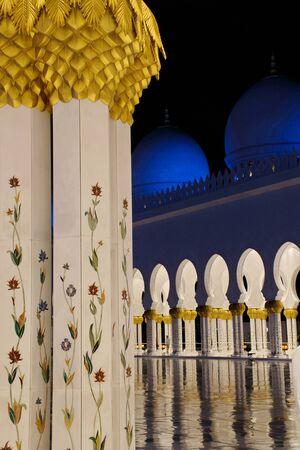 sheikh zayed mosque: Interior of Sheikh Zayed Mosque  in United Arab Emirates Stock Photo