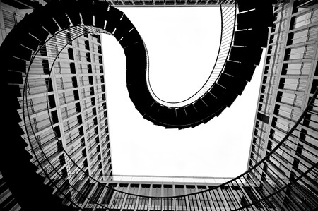 endless: MUNICH, GERMANY - OCTOBER 30 :Endless steel stairway in Munich designed by Olafur Eliasson