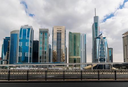 sheik: Metro station next to Sheik Zayed road in Dubai, UAE
