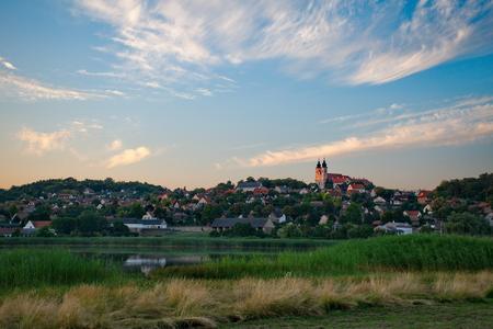 balaton: Tihany abbey in Hungary at lake Balaton Stock Photo