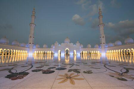ABU DHABI, UAE - FEBRUARY 01: Sheikh Zayed Grand Mosque, Abu Dhabi, UAE on February 01, 2016 in Abu Dhabi. The 3rd largest mosque in the world