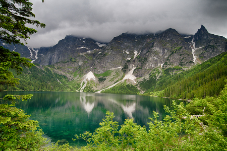 oko: Morskie Oko lake in Poland Stock Photo