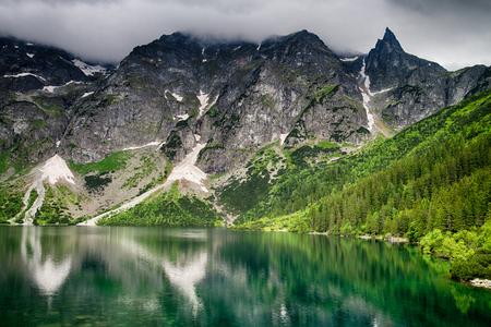 morskie: Morskie Oko lake in Poland Stock Photo