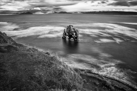 Hvitserkur rock in Iceland Stock Photo