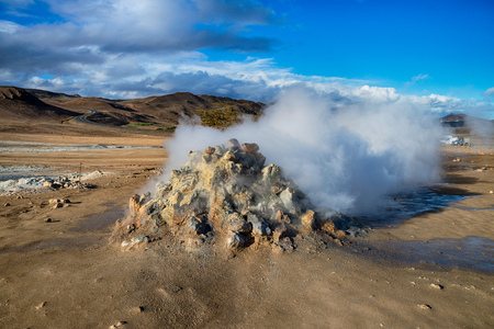 Geothermal activities in Hverir, Iceland