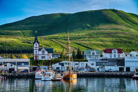 View of Husavik in Iceland Editorial