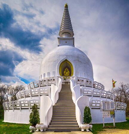 Peace Stupa in Zalaszanto, Hungary, Europe