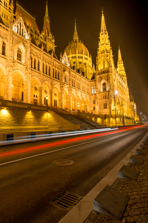 Parliament of Hungary in Budapest Stock Photo