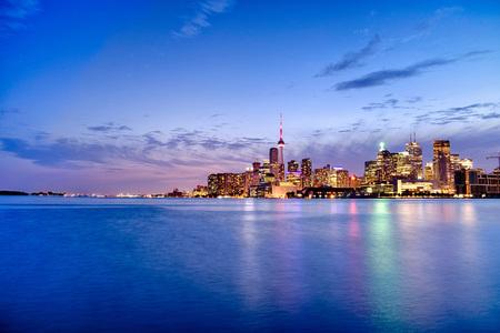Skyline of Toronto in Canada 写真素材