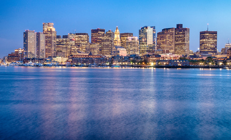 View of Boston downtown, USA