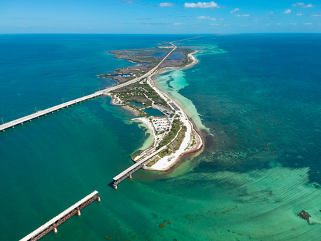Road 1 to Key West in Florida, USA 스톡 콘텐츠