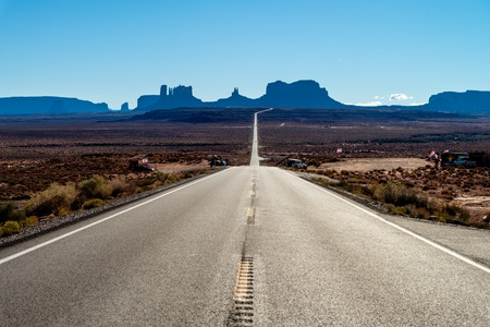 View at Monument Valley, Arizona USA