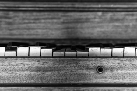 Keys of an Old ruined piano