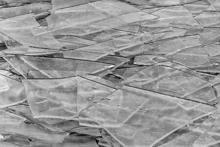 Broken ice on lake Balaton in Hungary