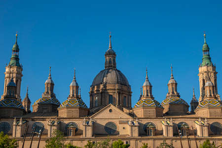 Basilica of Our Lady of Pillar in Zaragoza, Spain, Europe