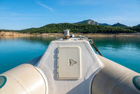 Motorboat on Congost de Mont-rebei, Spain, Europe