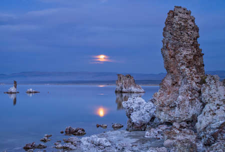 Magic sunset on Mono lake in California, USA
