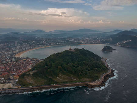 Aerial view to the San Sebastian, Spain, Europe